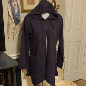 Simply Noelle 8-10 hooded cotton jacket navy